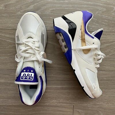 uk availability 85ce3 883ae Nike Air Max 180 QS White Metallic Good Concord 626960-175 Size 10
