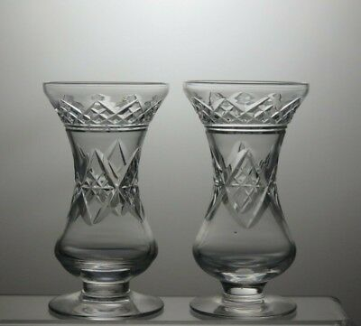 Lead Crystal Cut Glass Vases Set of 2