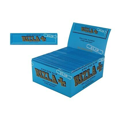 50x Rizla King Size Slim Thin Rolling Papers Fine Weight 32 leaves per booklet