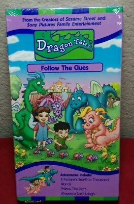 DRAGON TALES - Follow the Clues (VHS, 2000) Sesame Workshop