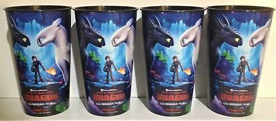 How to Train Your 3 2019 Movie Theater Exclusive Four 44 oz Plastic Cups