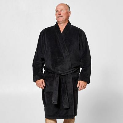 NEW Mr Big Jacquard Fleece Dressing Gown