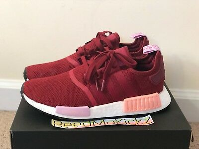 Adidas NMD R1 W D97088 BlackTactile RoseBold Red Australia