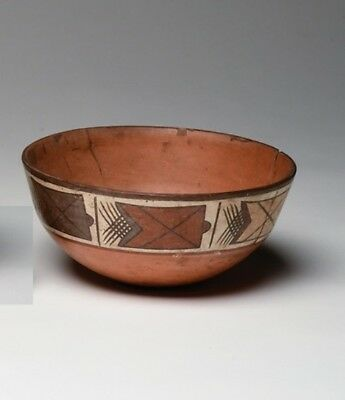 Ancient Nazca Bowl with Stylized Fish - Peru Precolumbian Art