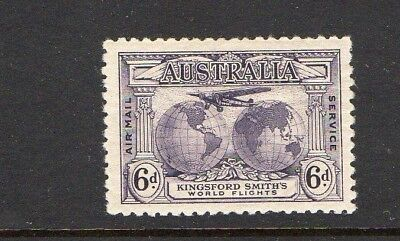 AUSTRALIA 1931-COMMEMORATING FLIGHTS BY CHARLES KINGSFORD SMITH 6d VIOLET MLH