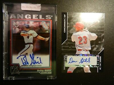 Lot Of Two (2) Different *autograph* Mlb Cards - Bobby Grich & Drew Stubbs