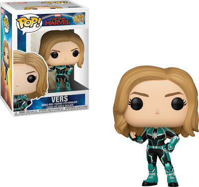 Captain Marvel - Vers - Funko Pop! Marvel: (2019, Toy NEUF)