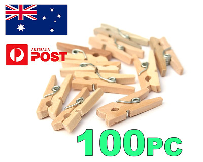 ****mini Wood Wooden Pegs 30Mm Natural Craft Wedding Clothes Pin Line Photo Baby