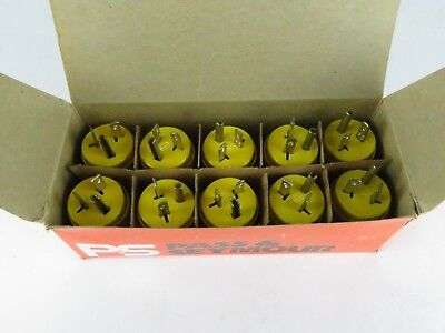 Box of 10 P & S 5366-SS 20 amp 125v Straight Blade Male Cord