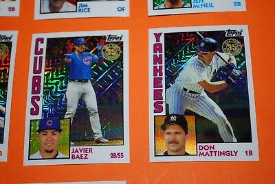 2019 Topps Series 1 1984 Silver Pack Refractor Singles - You Pick & Complete Set