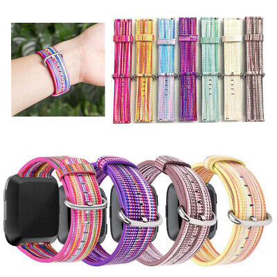 Replacement Printing PU Leather Watch Strap Wrist Band Loop For Fitbit Versa UK