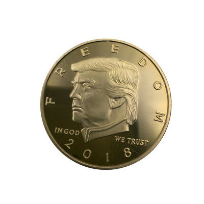 2018 Donald Trump 45th President Coin Gold Plated Collectible Coin Commemorative