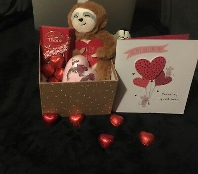 VALENTINES DAY love teddy bear hamper gift bag chocolate cute kids For Her Him