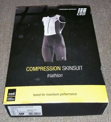 cd46e5032a NWT CEP Compression Triathlon Skinsuit Womens I Graphite/Black/White