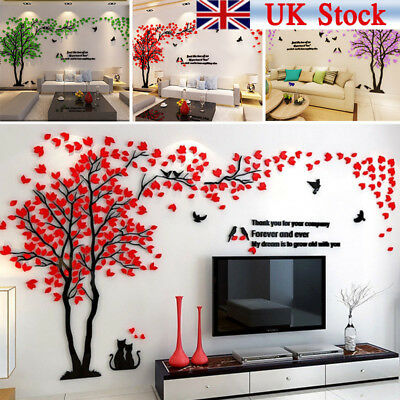 3D Large Tree Arcylic Wall Sticker Room Decal Mural Art DIY Wall Decor