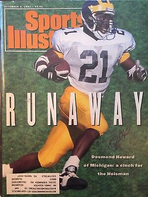 Desmond Howard Signed Sports Illustrated 12 1 91 Issue Michigan Heisman  NCAA NFL ff0b0aee3