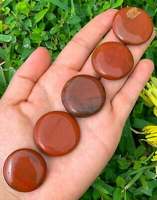 Red Jasper Natural Gemstone Polished Disc Stone Reiki Gift Chakra