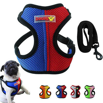 Mesh Puppy Vest Walk Leash Collar Pet Traction Rope Dog Harness Chest Strap