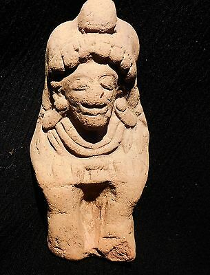 Pre-Columbian Ecuador Pottery Seated Female Figure Jama-Coaque Authentic