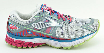 8faf5693712f Womens Brooks Ravenna 6 Running Shoes Size 8.5 Us 40 Eu Gray Silver White  Pink