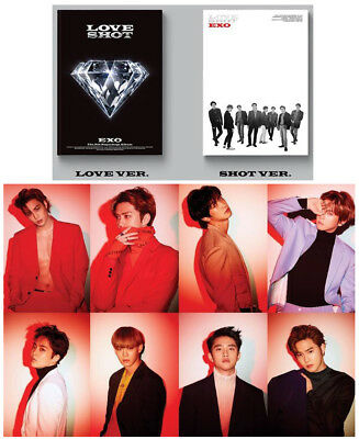 5th Repackage Album EXO LOVESHOT [Love+Shot Version] K-POP SET Album CD