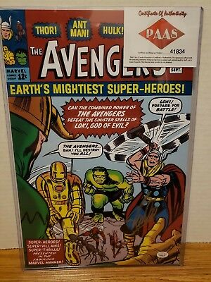 Stan Lee Avengers signed autographed 8x12 Photo certified Coa