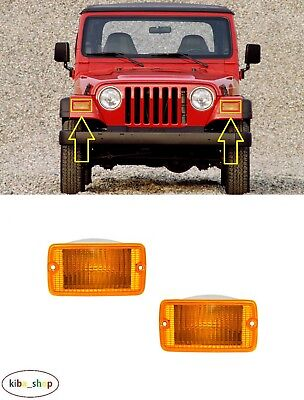 For Jeep Wrangler Tj 2000 - 2006 Front Indicator Repeaters Pair Left + Right