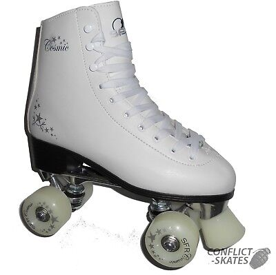 "SFR ""Cosmic"" White Figure Quad Roller Skates 4, 8 or 9 UK ABEC 5 Rollerskates"