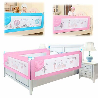 180cm Baby Bedrail Adjustable Lift Toddler Children Safety Folding Bed Guards UK