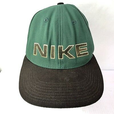 7e361da87 VINTAGE 90S NIKE Hat Snapback Spell Out Logo With Swoosh On Back Retro Cap