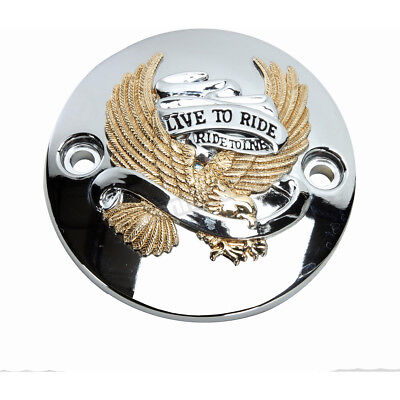 Drag Specialties Gold Live to Ride Eagle Points Cover - 0940-1646