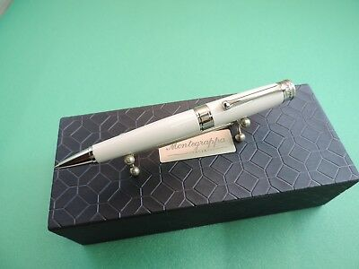 Montegrappa Parola Ballpoint pen, White resin, Chrome, USB 32 Gb