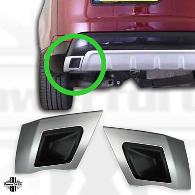 Rear bumper twin exhaust trim in Silver for Discovery 5 HSE dynamic style inse