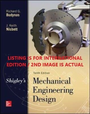 4DAYS DELIVERY-Shigley's Mechanical Engineering Design by Budynas, 10TH INT'L ED