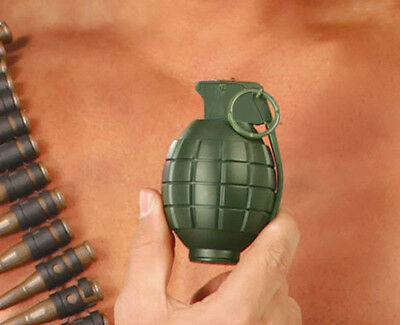 Plastic Grenade Prop US Army WW2 World War II Pineapple Vietnam With Sound NEW