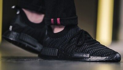 premium selection 0e9ef ad1fd $170 NEW ADIDAS NMD_R1 STLT Primeknit Shoes Running Ahtletic Street Black  CQ2391