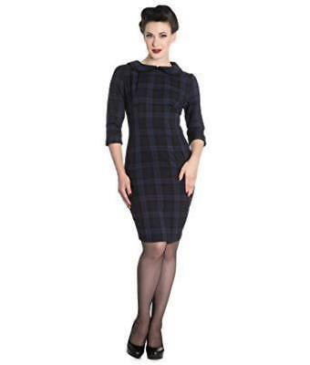HELL BUNNY Hamilton Tartan Pencil Dress vintage 1950s 1940s prom occasion pinup