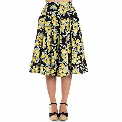 HELL BUNNY Lemon Leandra Full Circle 50s Skirt vintage 1950s 1940s prom occasion