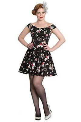 Blitzen Christmas Mini Dress hell bunny skater 1950s 1940s 1960s vintage pinup