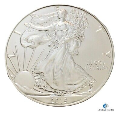 2019 american eagle 1 oz silver bullion coin ounce uncirculated 1 $ free postage