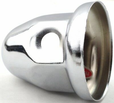 "lug nut covers(5) 1-1/2"" flange bullet 2-1/4"" tall chrome Peterbilt Freightliner"