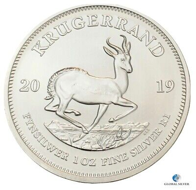 2019 Krugerrand 1 oz South Africansilver ounce bullion coin new uncirculated