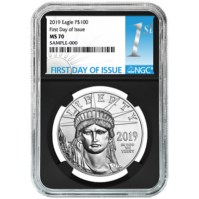 2019 $100 American Platinum Eagle NGC MS70 FDI First Label Retro Core