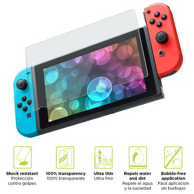 TEMPERED GLASS Screen Protector Pro Cover for Nintendo Switch console ~