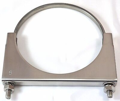 "exhaust clamp 6"" U Bolt stainless steel Peterbilt Kenworth Freightliner"