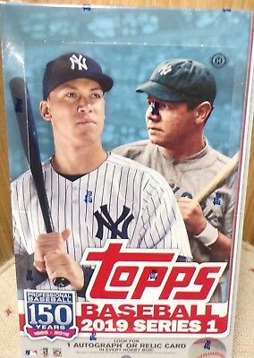 2019 Topps Series 1 Baseball Cards Hobby Box NO Silver
