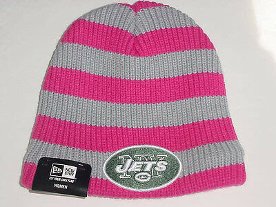 New Era NEW YORK N Y JETS Women s Breast Cancer Awareness Knit Stocking Cap  Hat 6ff564166