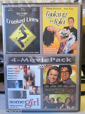4-Movie Pack: Crooked Lines/looking Lola/some Girl/something Sex (Dvd, 2007),new
