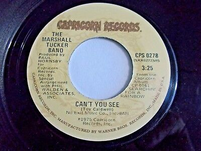 Marshall Tucker Band Can't You See / Fly Like An Eagle 45 1973 Vinyl Record