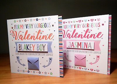 Special Valentine's Day surprise reveal card Personalised Valentine cards
